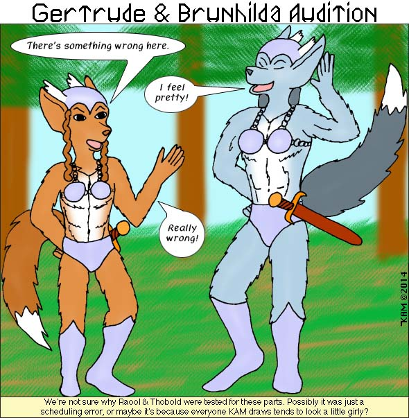 Gertrude & Brunhilda Audition